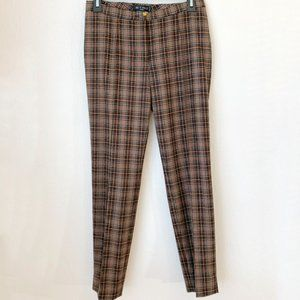 NWT Etro Plaid Skinny Ankle Pants Size IT 40 {D}